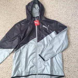 Puma Zip-up Rain Jacket (Brand New!!)